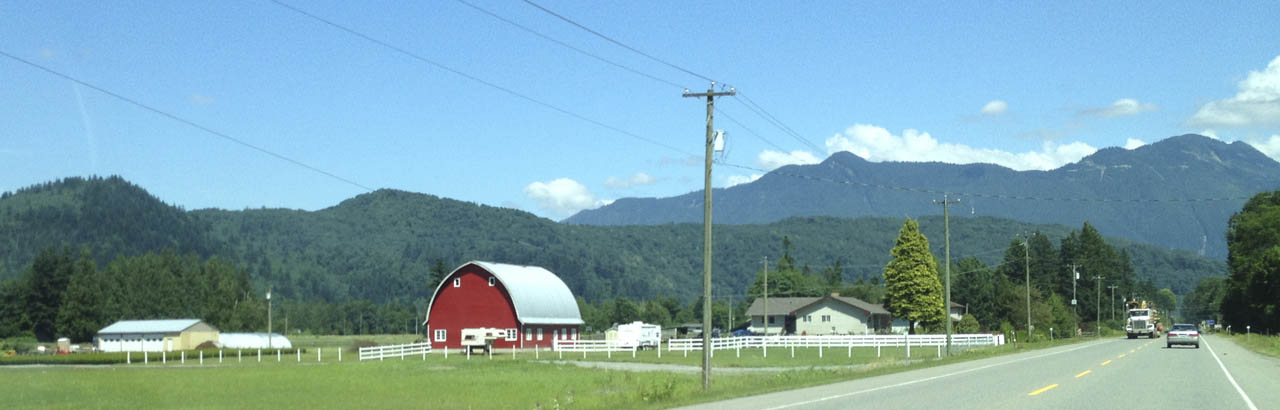 Farmland outside Abbotsford, north of US-Canada border